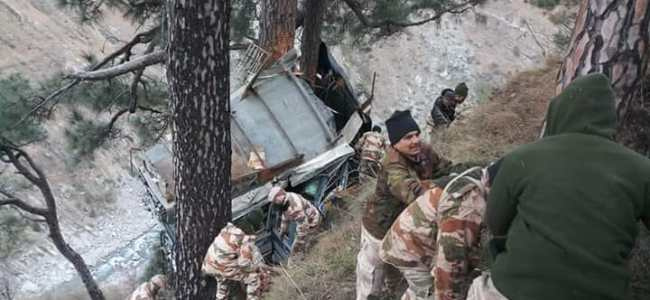 ITBP trooper killed, 34 others injured as bus plunges in Gorge in Ramban