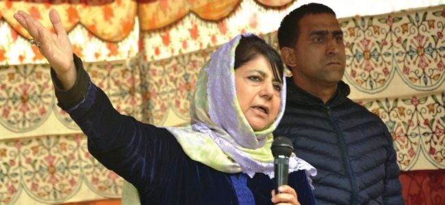 Civilians being armed in Chenab Valley, says Mehbooba