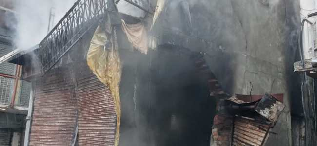 Five shops gutted in Sopore fire mishap