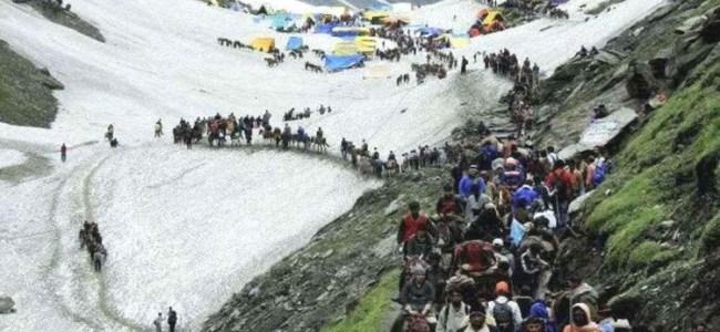 Amarnath Yatra resumes from Jammu, biggest batch of 7,993 pilgrims left for Kashmir