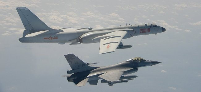 Chinese bomber flies over Taiwan Strait as tensions rise