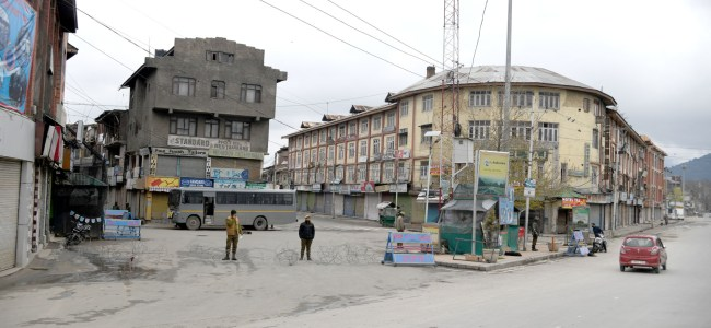 Restrictions intensified in Kashmir following detection of 4 more COVID-19 cases, one death