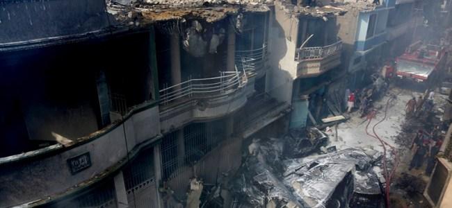 Pakistan plane crash: 97 dead bodies recovered at crash site in Karachi