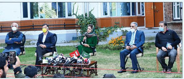 The war cry: PDP, Gupkar alliance to take final call on poll participation, says Mehbooba
