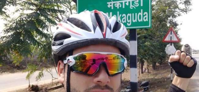 Sopore Cyclist travels from Kashmir to Kanyakumari in 27 days