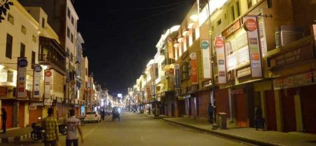 'Corona Curfew' continues across JK