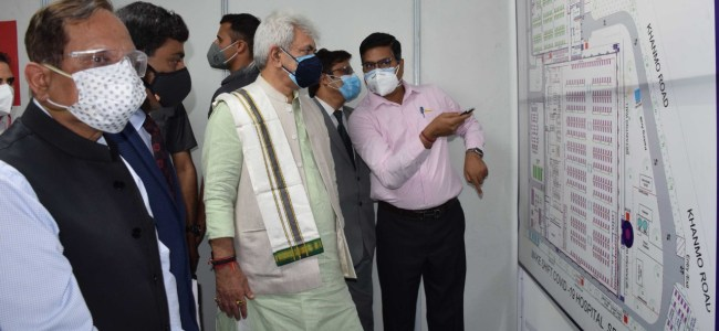 Lt Guv inaugurates DRDO's 500-bedded COVID Hospital at Khonmoh