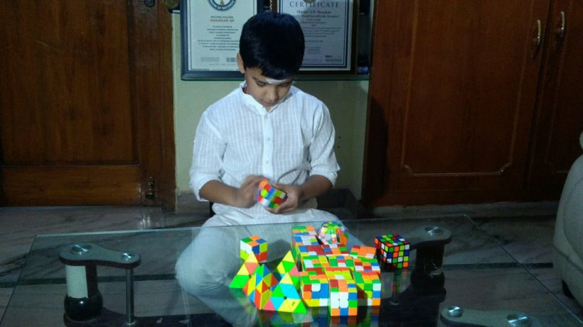 9-year-old child made Pyraminx cubic, created world record, entered name in Limca Book of Records