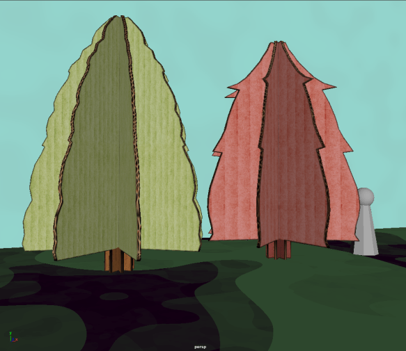 the trees next to each other