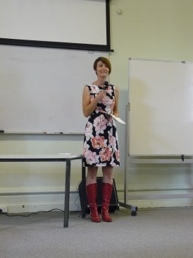 Looking very sheepish while speaking