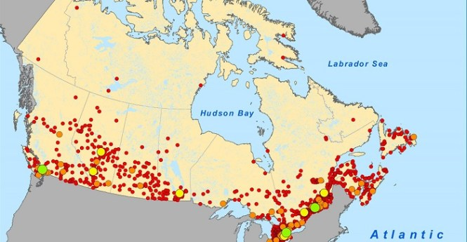 Kanada - gęstość zaludnienia