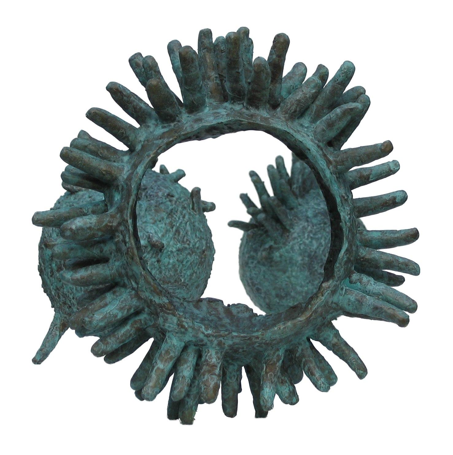 Microcosmos, Series of 3 sculptures in Bronze, Cast based on artist's fingers, 2007, each 15 in. in diameter