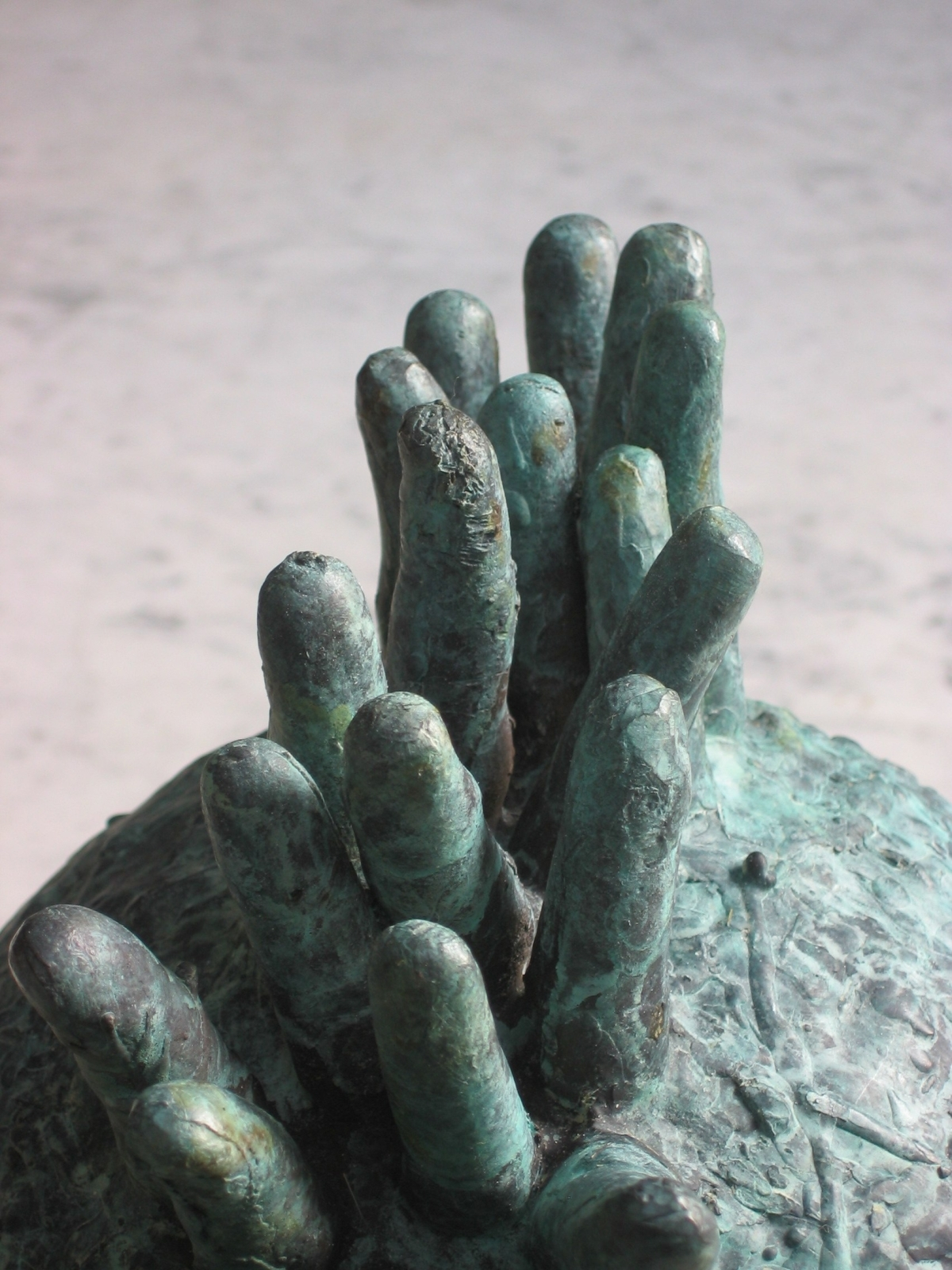 Microcosm 1, 2007, Bronze, 15 in. in circumference, detail
