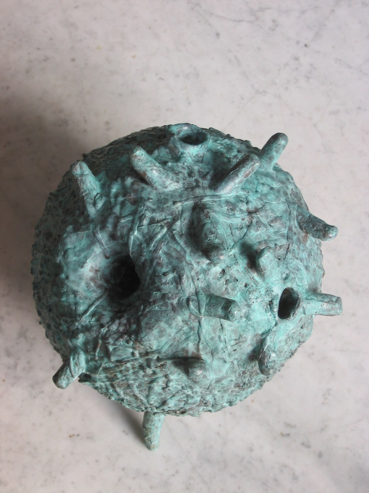 Microcosm 2, 2007, Cast based on artist's fingers, Bronze, 15 in. in circumference