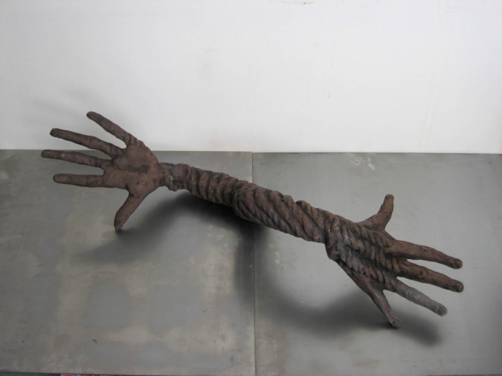 Hands III, 2007, ceramic, 70 cm x 25 cm x 25 cm