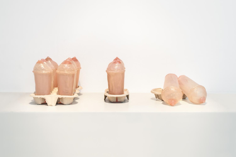 Soft Drink, 2009, resin, cardboard cup holder, 22 cm x 22 cm x 12 cm.
