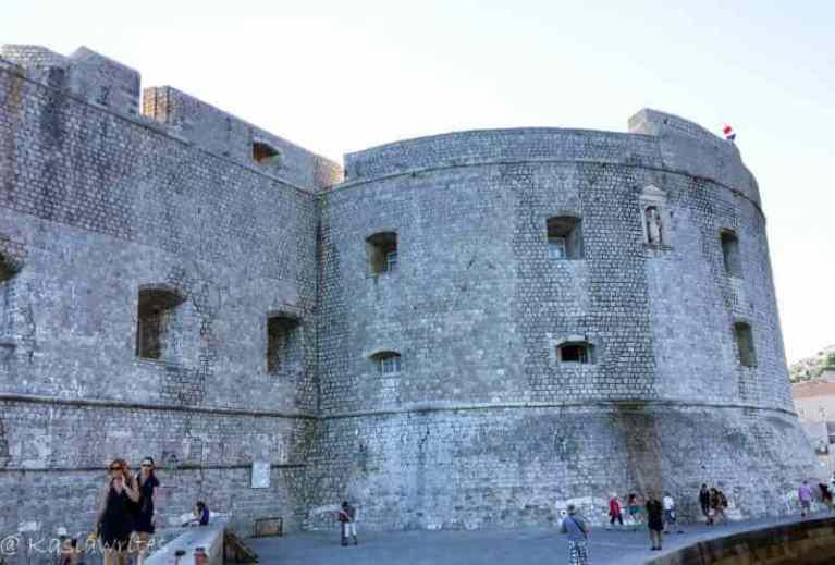 Fortification walls in Dubrovnik