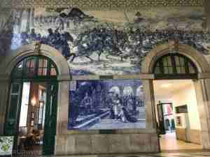 Inside Sao Bento train station in Porto