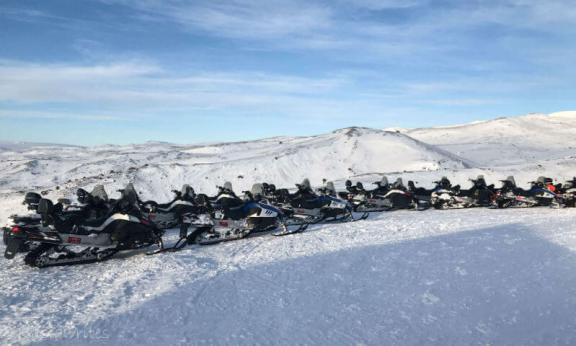 snowmobile tour in Iceland