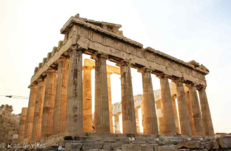ruins of the Parthenon in Athens