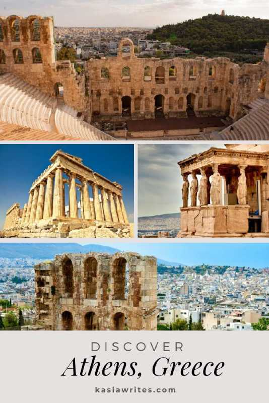 collage of ancient temples in Athens