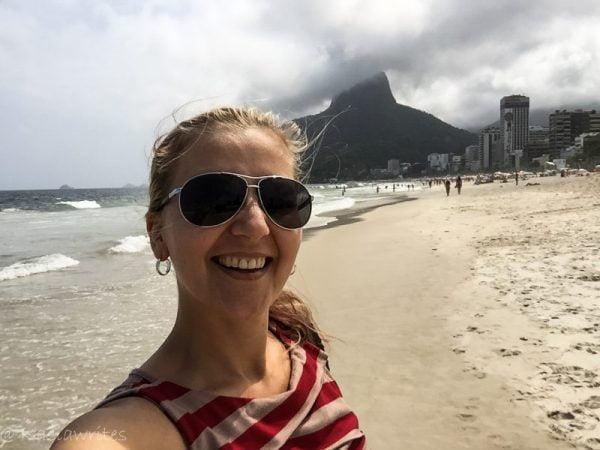 Ipanema beach travel blogger