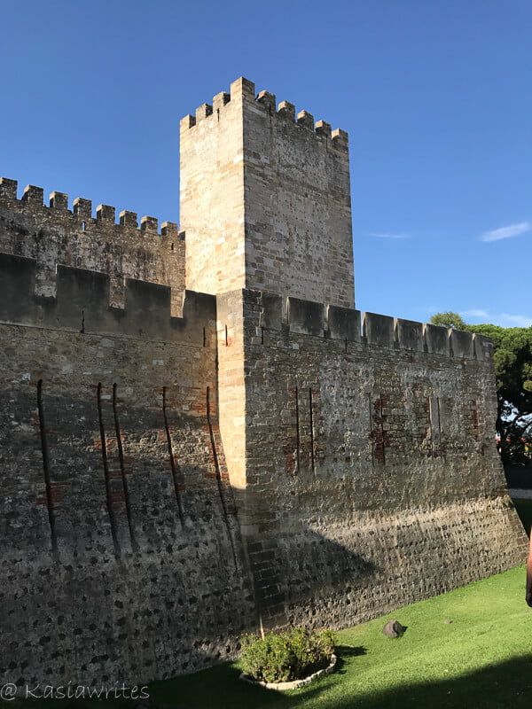 outer walls of a castle in Lisbon