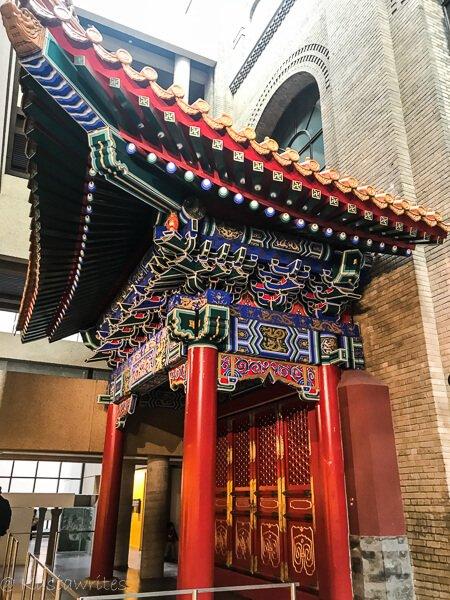 Chinese pagoda display