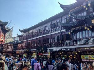crowded street in Shanghai