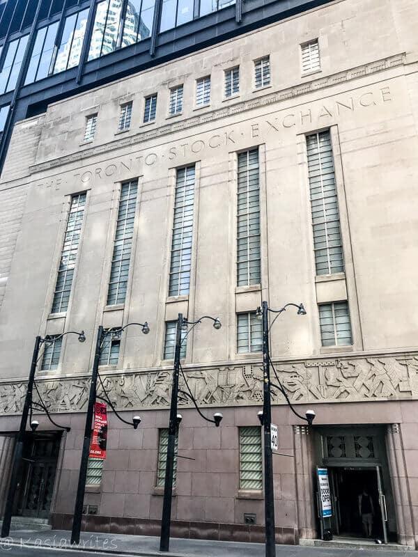 art deco facade of the former Stock Exchange