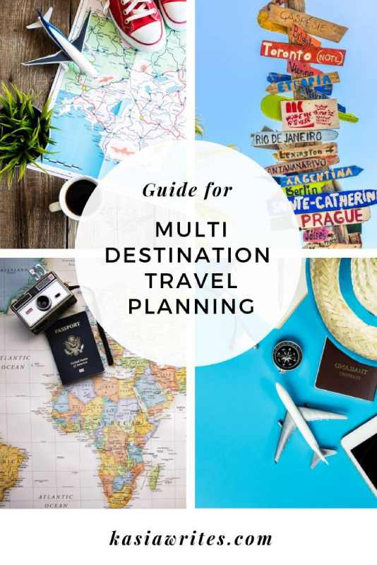 collage of maps for multi destination planning
