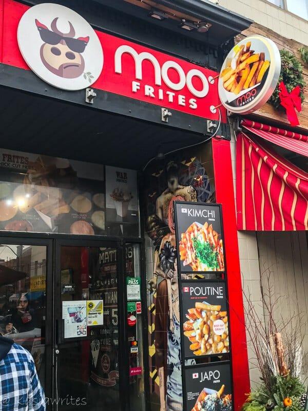moo frites at Kensington Market