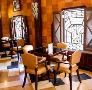 art deco style lobby