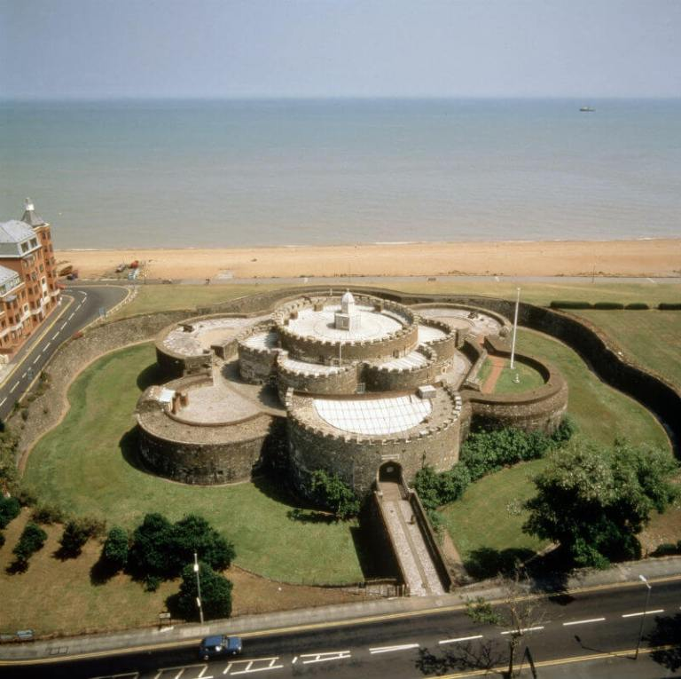 aerial view of Deal castle