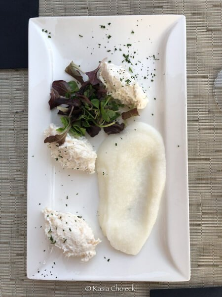 creamed cod with polenta