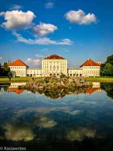 Nymphenburg Palace reflecting in the water