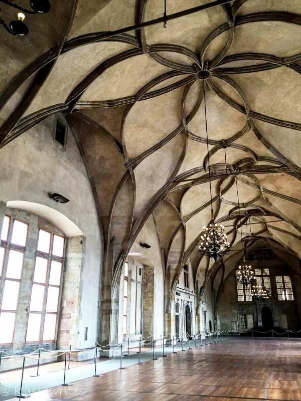 vaulted ceilings at Prague castle