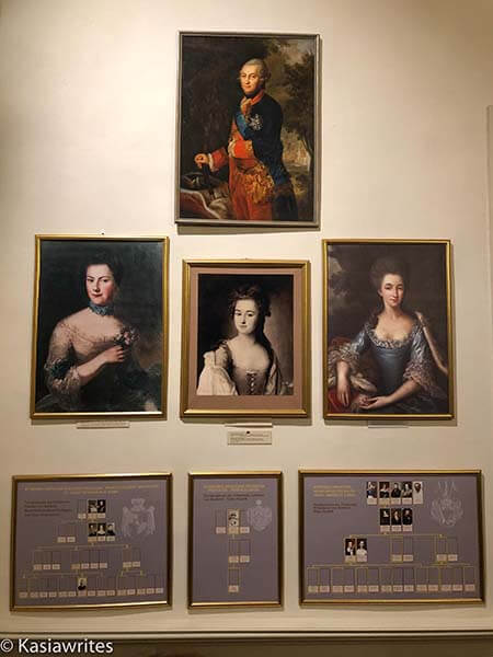 additional portraits of Rundale Palace owners
