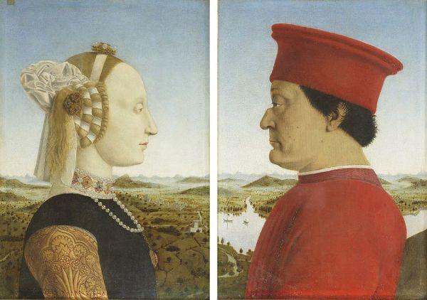 portraits of Battista Sforza and Federico da Montefeltro by Piero della Francesca