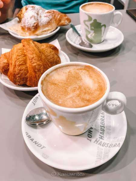 cappuccino and croissant
