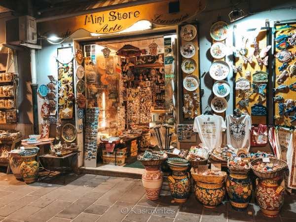 ceramics shop Amalfi Coast
