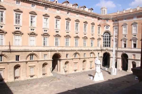 courtyard of Caserta Royal Palace