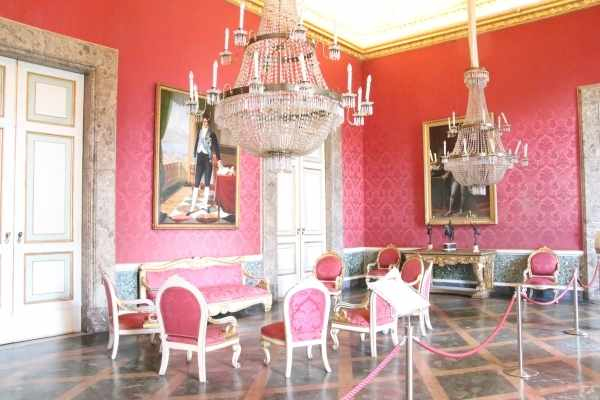 red room Caserta Royal palace