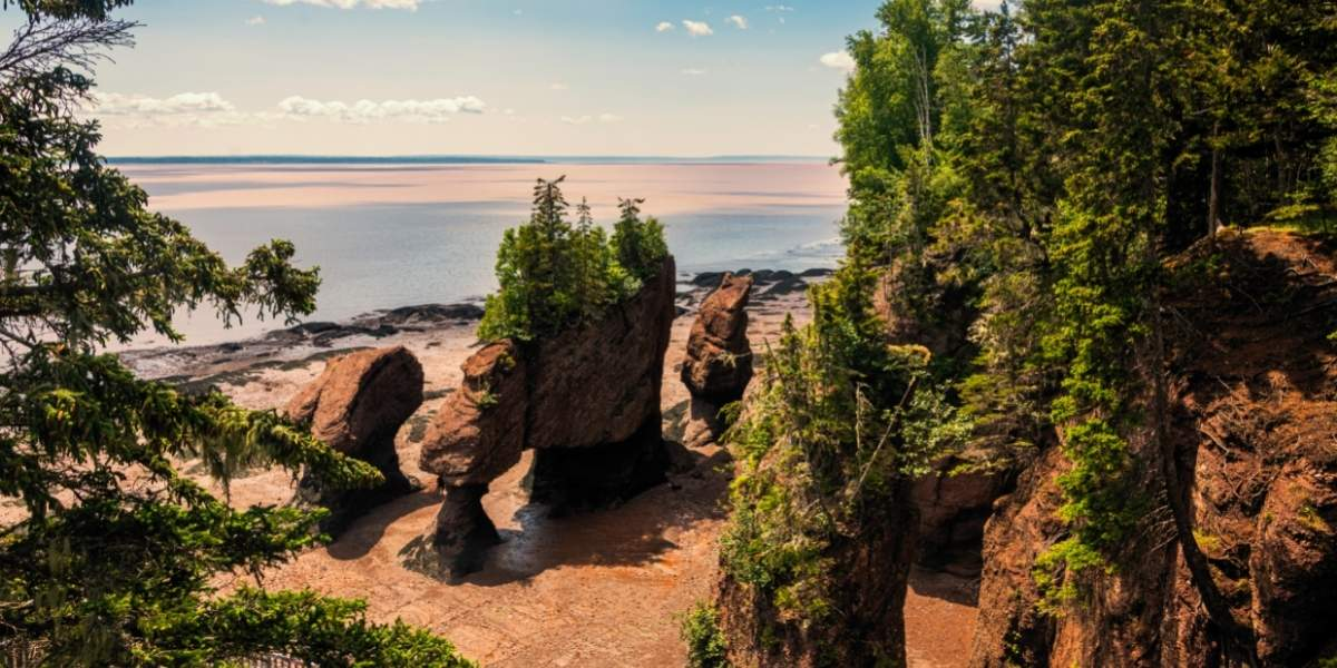 Bay of Fundy arches overlooking the bay