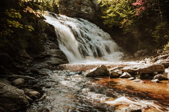 waterfall in the Fundy National Park