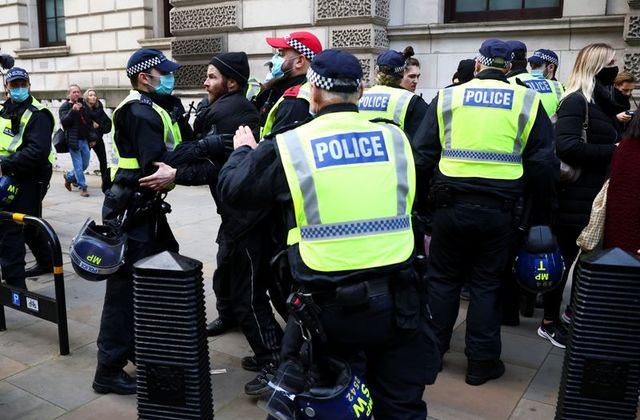 155 arrested in London