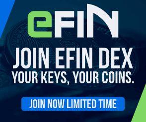 eFIN 新しいDEX(分散型取引所)の事前登録で1000eFINのエアドロップ