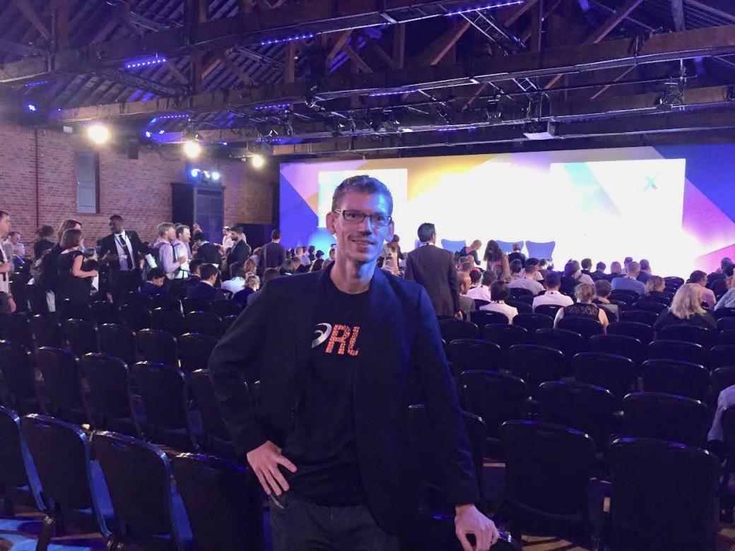 Her er jeg til EdTech messe i London i juni 2018.