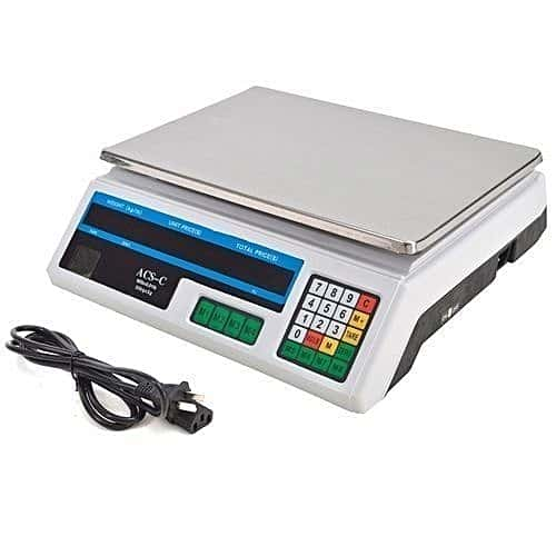 Acs 30 Digital Weighing Scale - Silver