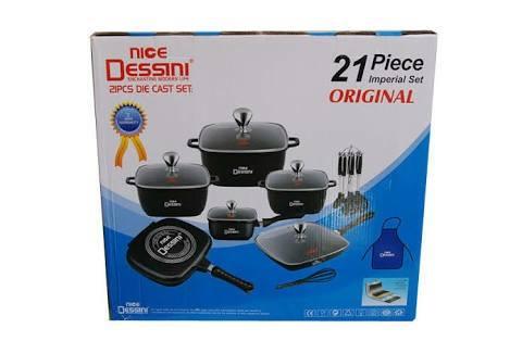 21pcs non stick cookware set.